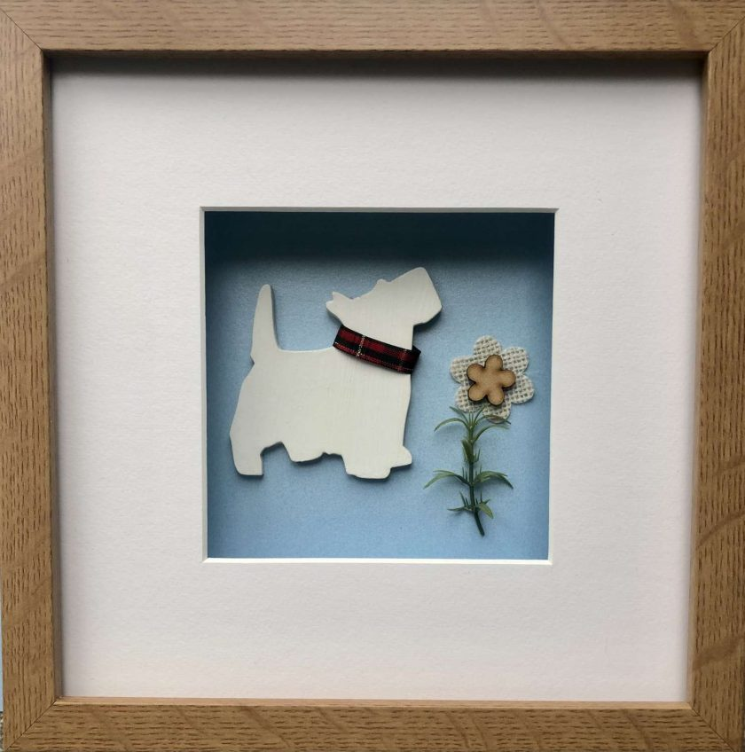 West Highland Terrier (Westie) 3D Box Framed Custom Made Wall Hanging Picture 4