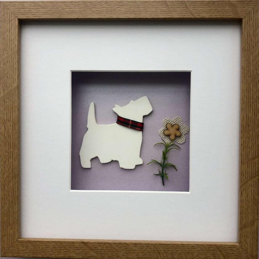 West Highland Terrier (Westie) 3D Box Framed Custom Made Wall Hanging Picture 2