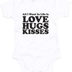 All you need is Love, Hugs and Kisses Babygrow 5