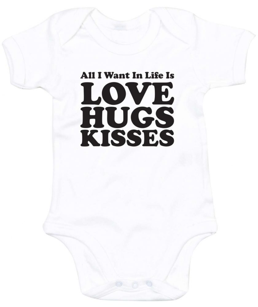 All you need is Love, Hugs and Kisses Babygrow 3