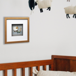 Custom Made 3D Woolly Sheep Framed/Handmade Gift Hanging Wall Picture 4