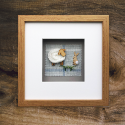 Custom Made 3D Woolly Sheep Framed/Handmade Gift Hanging Wall Picture 5