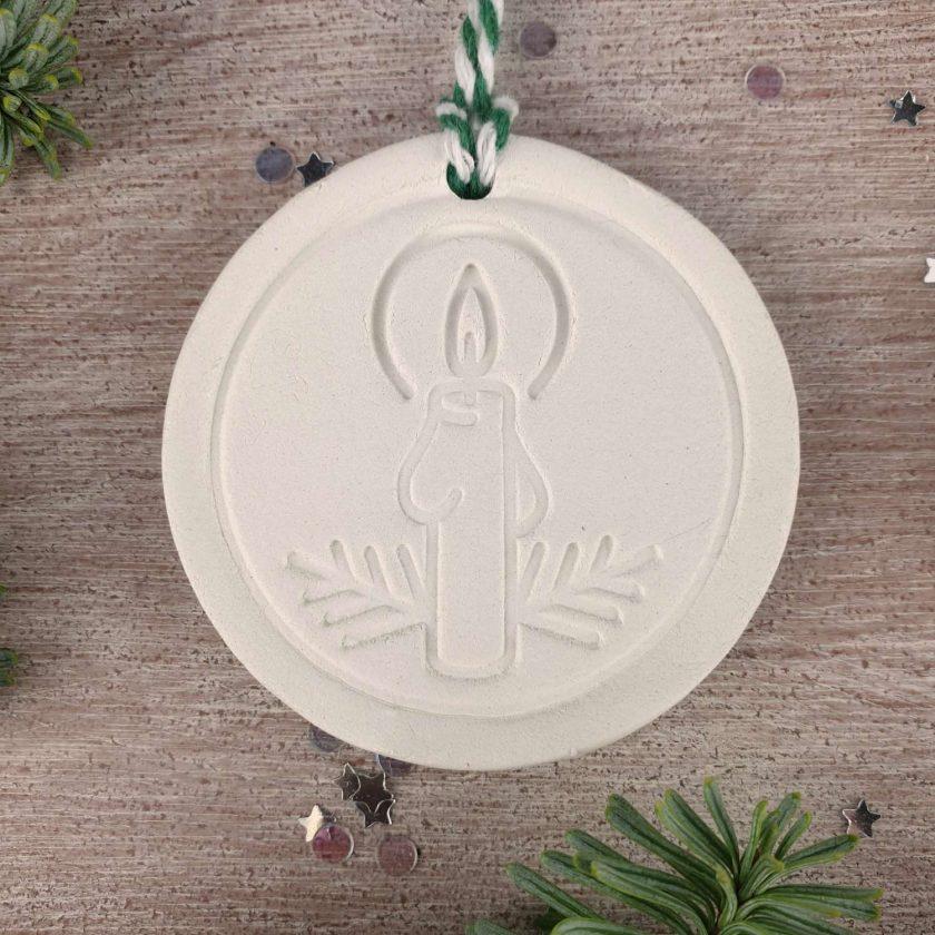 "Handcrafted Ceramic ""Traditional Trio"" Set of 3 Christmas Decorations 3"