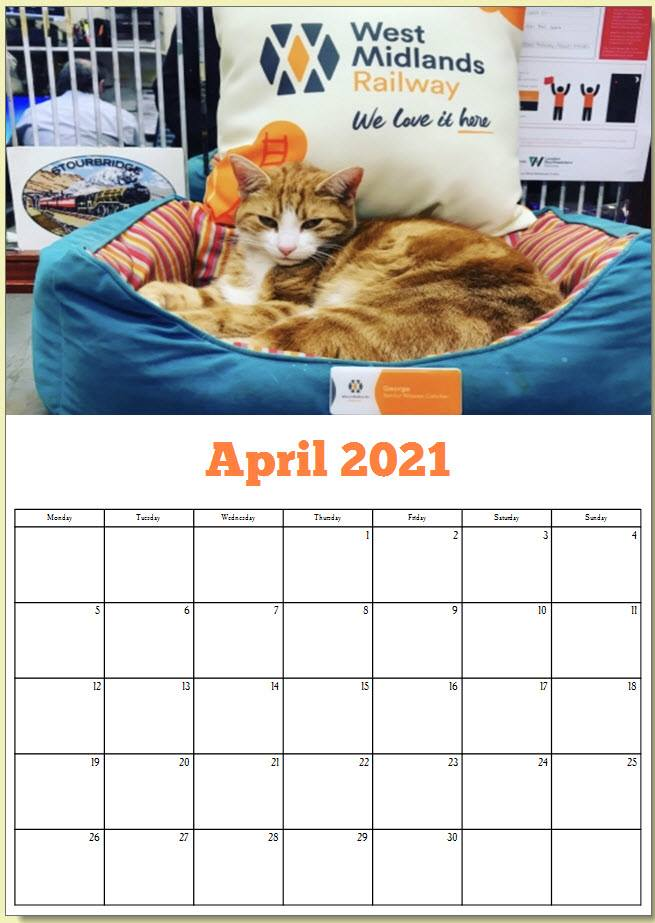 George the Stourbridge Junction Station Cat 2021 Calendar 5