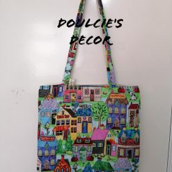 Adorable city scene tote bag by Doulcie's Decor