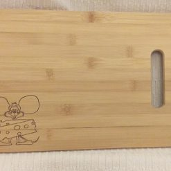 Cheese Board: Cheesey Mouse ~ Hand-Etched