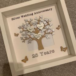 Silver Wedding Anniversary Frame, Silver Wedding Gift, Wedding Gift, Personalised Frame, Silver Wedding Frame, Couple Gift, Couple Frame 3