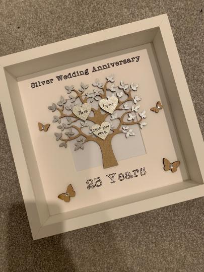 Silver Wedding Anniversary Frame, Silver Wedding Gift, Wedding Gift, Personalised Frame, Silver Wedding Frame, Couple Gift, Couple Frame 2