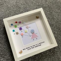 Retirement Frame, Teacher Frame, Teacher Gift, Gift for a Teacher, Frame for Retirement, Gift for Retirement, Personalised Frame, Button 4