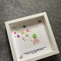 Retirement Frame, Teacher Frame, Teacher Gift, Gift for a Teacher, Frame for Retirement, Gift for Retirement, Personalised Frame, Button 5