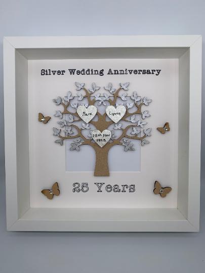 Silver Wedding Anniversary Frame, Silver Wedding Gift, Wedding Gift, Personalised Frame, Silver Wedding Frame, Couple Gift, Couple Frame 1