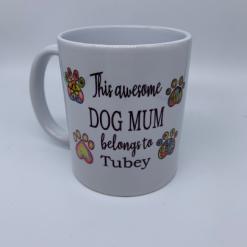 Dog Mug, Personalised Dog Mug, Paw Print Mug, Paw Print, Mug, Dog  Gift, Dog Mum, Dog Mum Mug, Dog Lover Gift