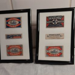 Collage - Vintage matchbox labels - Red white and blue Englands Glory