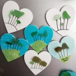Cornish tree heart magnets