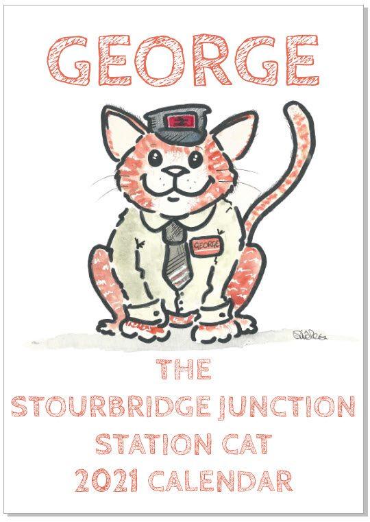 George the Stourbridge Junction Station Cat 2021 Calendar 1
