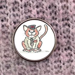George the Stourbridge Station Cat pin badge