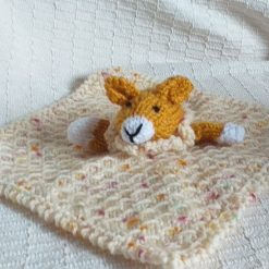 Baby Comforter Cloth, Critter-Cloths, Baby Snuggle Cloth: Gold