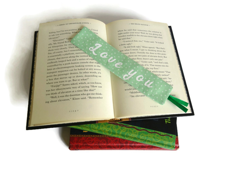 Personalized book mark, book lover gift 2