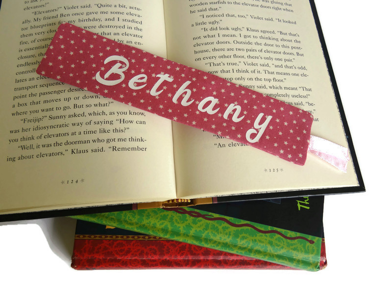Personalized book mark, book lover gift 5