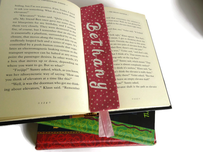 Personalized book mark, book lover gift 6