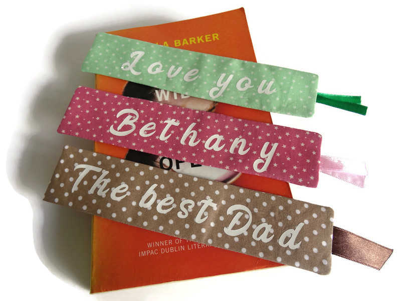 Personalized book mark, book lover gift 1