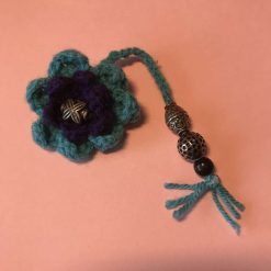 Crochet Key Ring - Blue/purple
