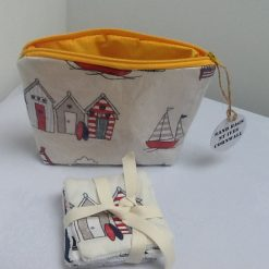 Seaside themed Cosmetic or Toiletries Bag from Sand Bags, St Ives by Naomi