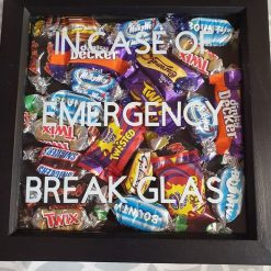 Chocolate Lover Framed In Case of Emergency wall art
