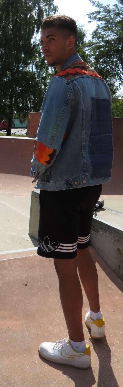 Upcycled Retro Denim Jacket 2