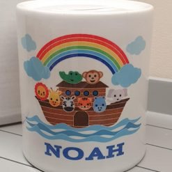 Personalised Noah's Ark Ceramic Money box