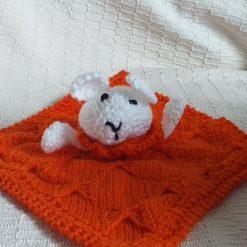 Baby Comforter Cloth, Critter-Cloths, Baby Snuggle Cloth: Orange