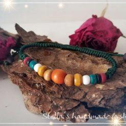 Natural Colourful Wood Bracelet