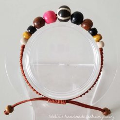 Natural stone and wood Bracelet 2