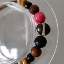 Natural stone and wood Bracelet 3