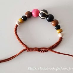 Natural stone and wood Bracelet 4