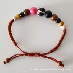 Natural stone and wood Bracelet 5