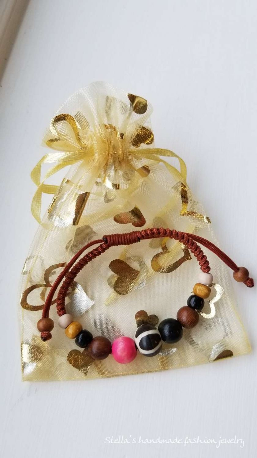 Natural stone and wood Bracelet