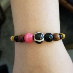 Natural stone and wood Bracelet 1
