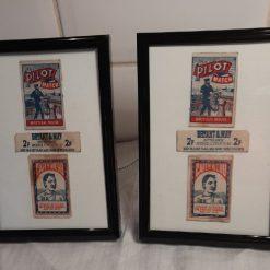 Collage - Vintage matchbox labels - Pilot matches