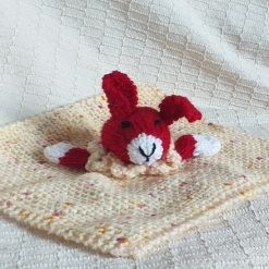 Baby Comforter Cloth, Critter-Cloths, Baby Snuggle Cloth: Red