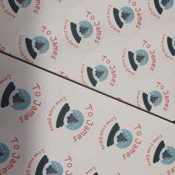 Personalised gift/Santa stickers - 4 designs