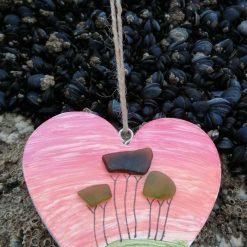 Cornish tree heart (sunset)