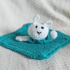 Baby Comforter Cloth, Critter-Cloths, Baby Snuggle Cloth: Teal
