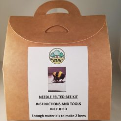 Needle felting bumble bee kit. Tutorial. Workshop. Craft Kit. Golden Valley Crafts