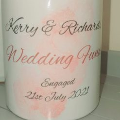 Personalised wedding fund money box / savings pot