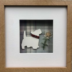 West Highland Terrier (Westie) 3D Box Framed Custom Made Wall Hanging Picture 9