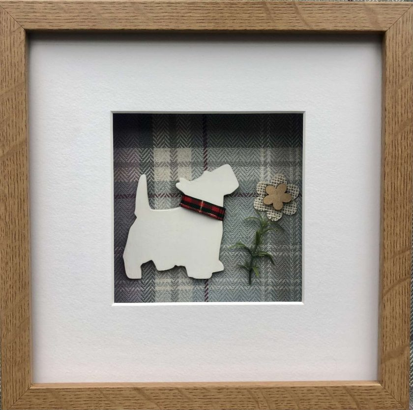 West Highland Terrier (Westie) 3D Box Framed Custom Made Wall Hanging Picture 3